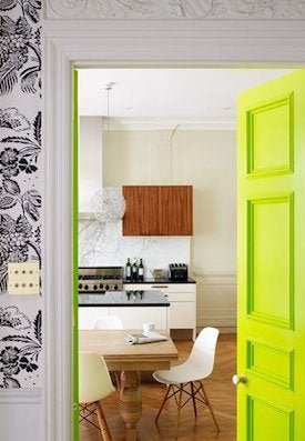 How to Paint a Door - Green