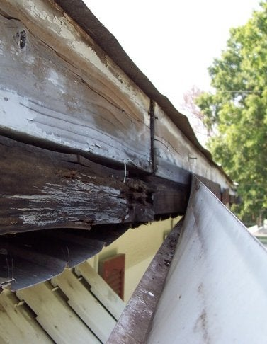 Spring Gutter Cleaning - Damage