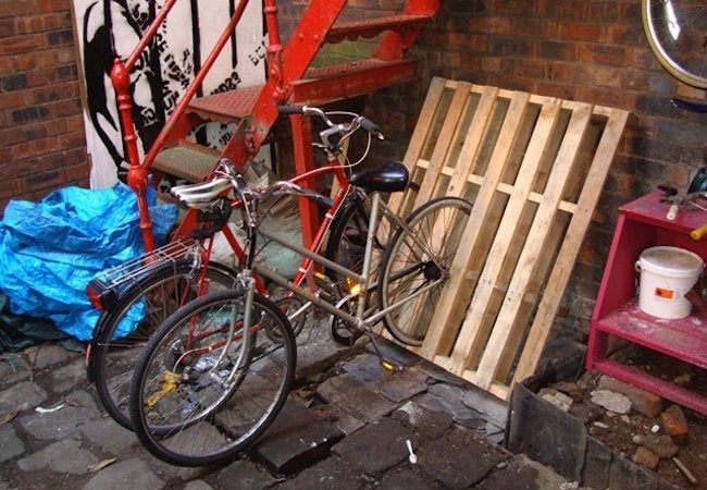 DIY Bike Rack - Pallets