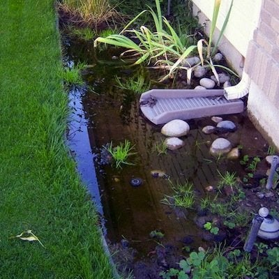 poor water drainage
