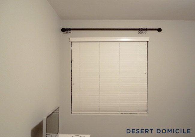 Installing DIY Pipe Curtain Rod