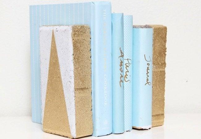 DIY Bookends - Brick