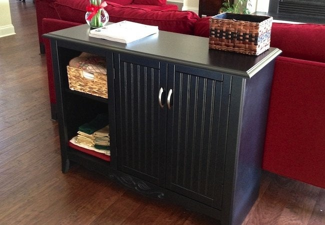 How To Spray Paint Furniture Cabinet Makeover Bob Vila