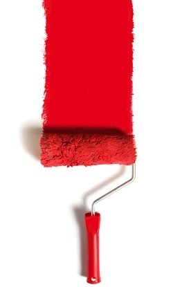 How to Paint Over Wallpaper - Detail Red