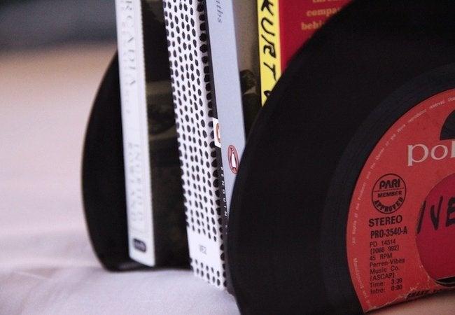 DIY Bookends - Vinyl Records