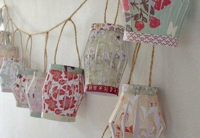DIY Paper Lantern - Garland