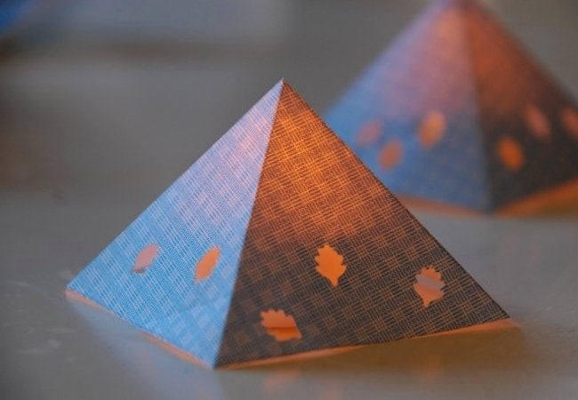 DIY Paper Lantern - Pyramid