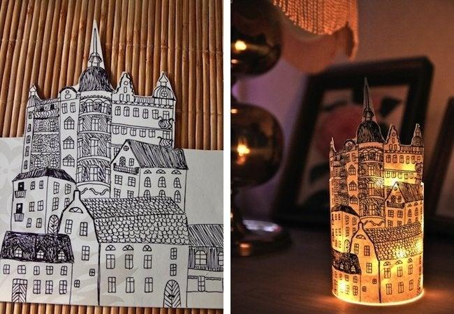 DIY Paper Lantern - Skyline