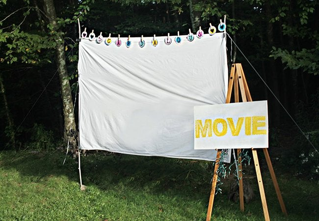 Diy Outdoor Movie Screen Weekend Projects Bob Vila