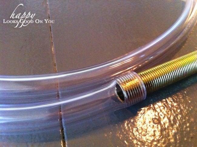 Lighting Tube for DIY Concrete Lamp
