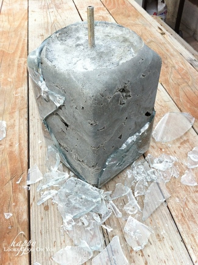 Breaking Mold for DIY Concrete lamp