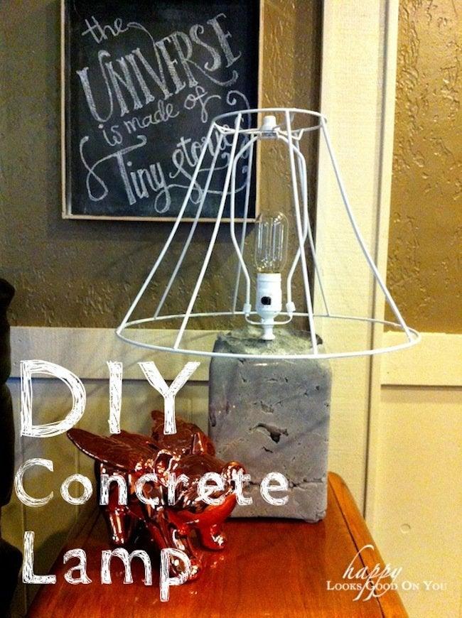 DIY Concrete Lamp Tutorial