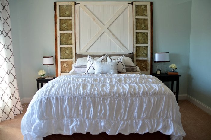 Diy Barn Door Headboard Bob Vila