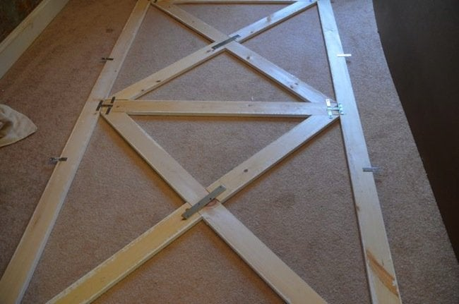 DIY Barn Door Headboard Frame