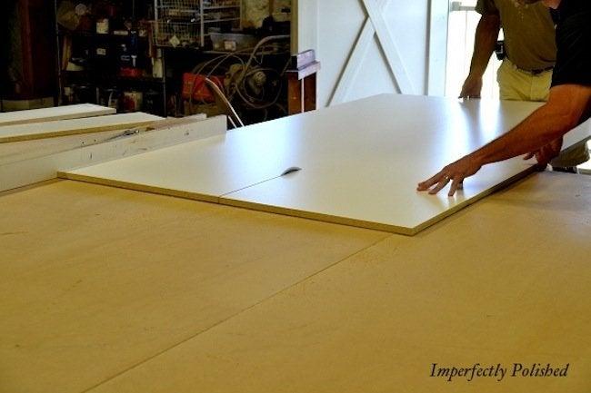 Melamine Boards for DIY Concrete Countertops