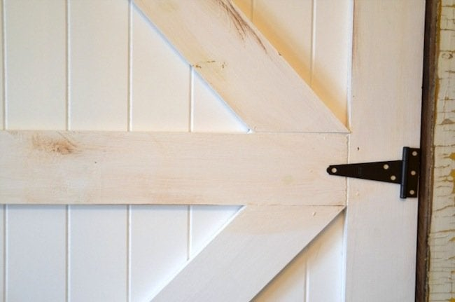 DIY Barn Door Headboard Detail