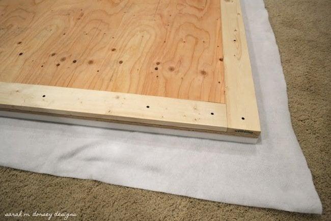 DIY Wingback Headboard Step 1