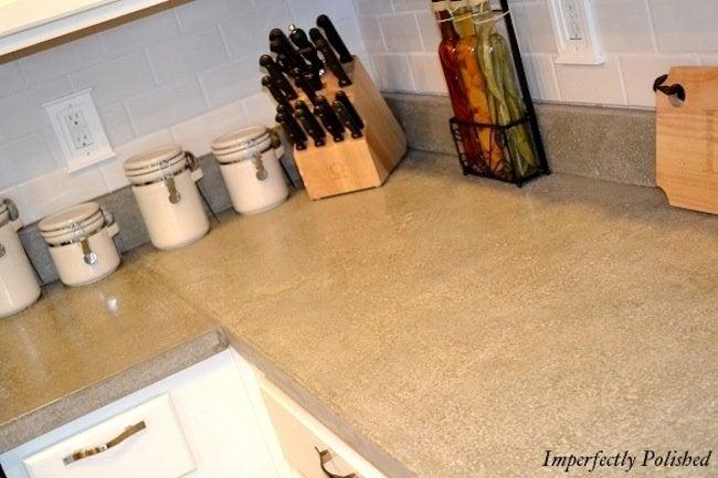 Glossy DIY Concrete Countertops