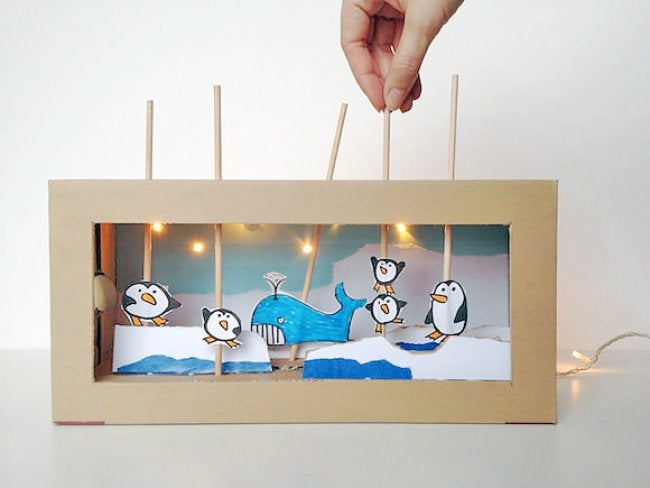 Shoebox Crafts - Puppet Theater