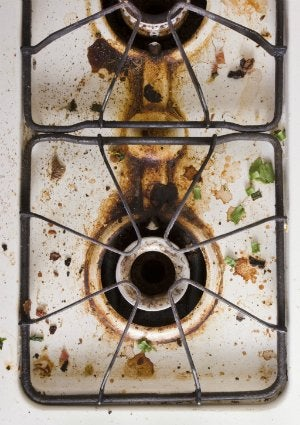 How to Clean a Stovetop - Dirty