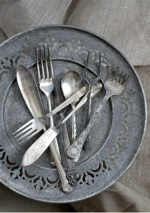 How to Clean Pewter - Plate