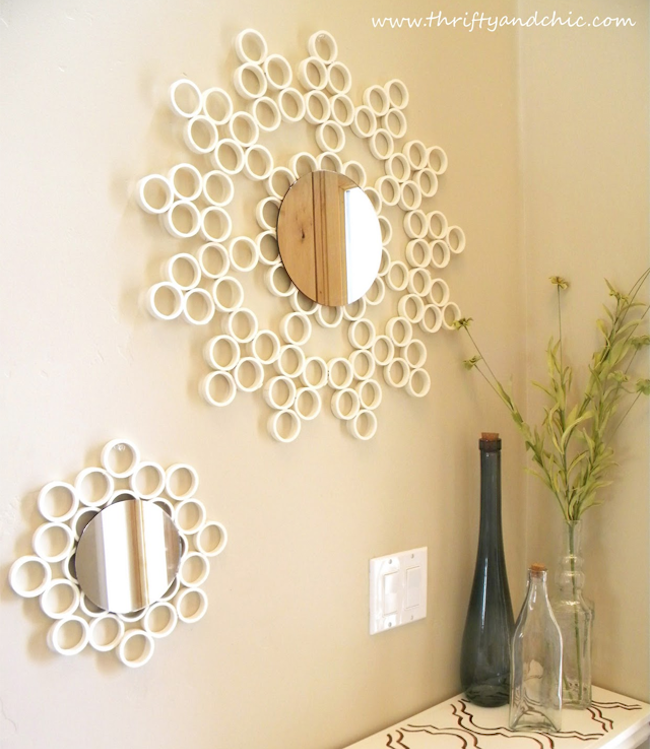 DIY PVC Pipe Mirror