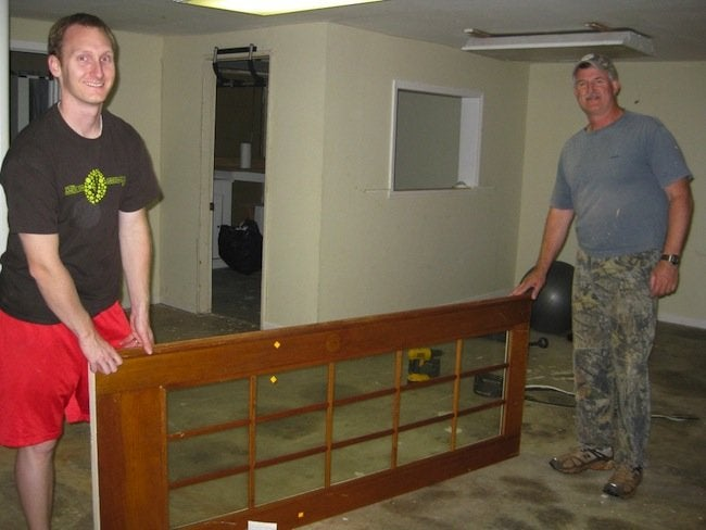 DIY Door Headboard Sawed Ends
