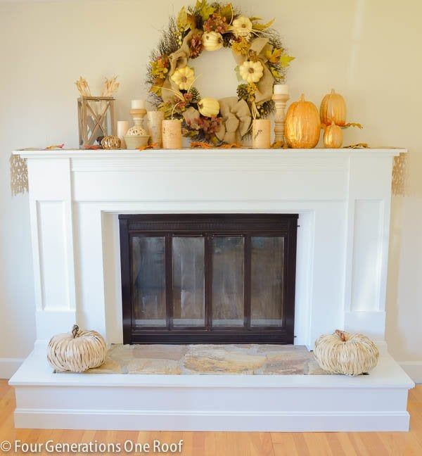 Fireplace Makeover - Mantel Decor