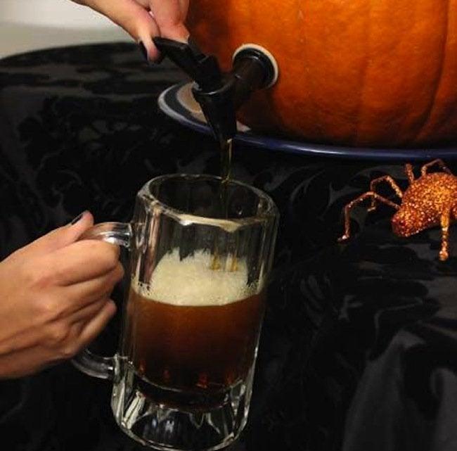 DIY Pumpkin Keg - Pour