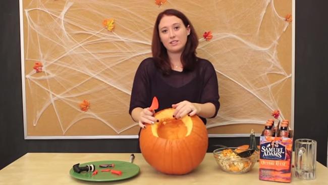 DIY Pumpkin Keg - Carved