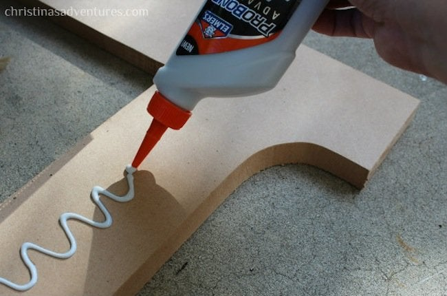 DIY Radiator Cover - glue