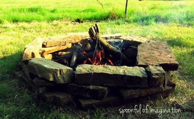 DIY Fire Pit - Stones