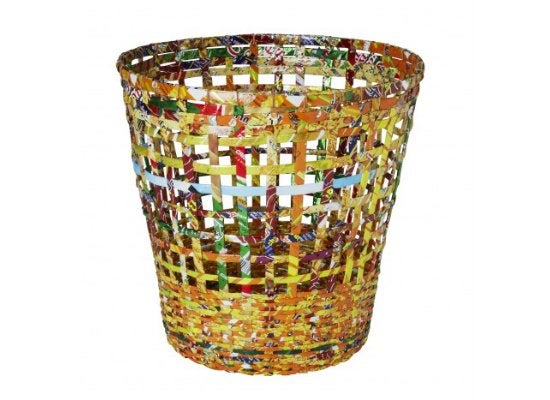 Reusing Candy Wrappers - Waste Basket
