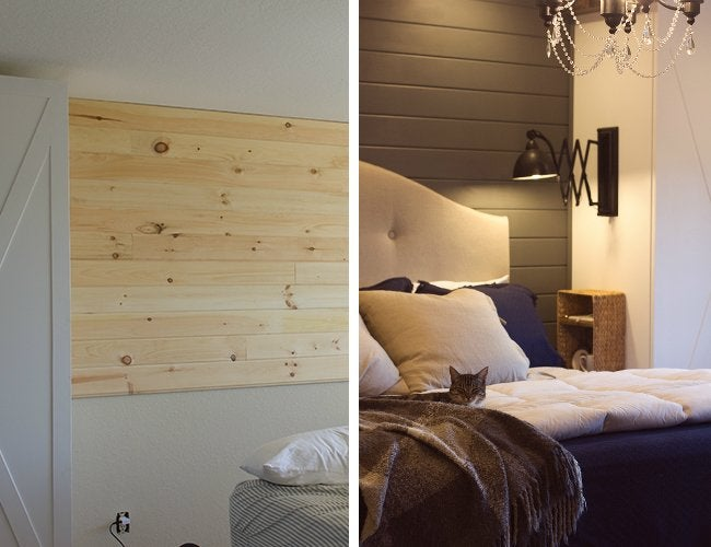Bedroom Makeover - Plank Wall