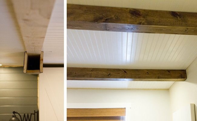 Bedroom Makeover - Beadboard Ceiling