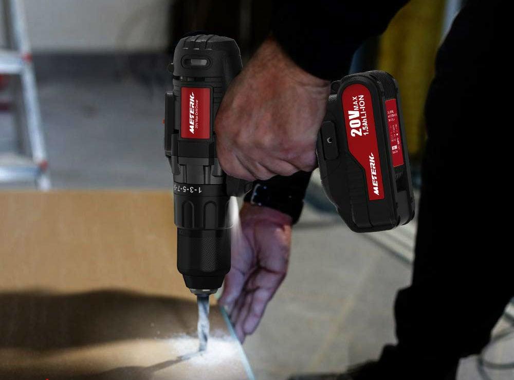 Best Budget Cordless Drill: Meterk 20V Cordless Drill
