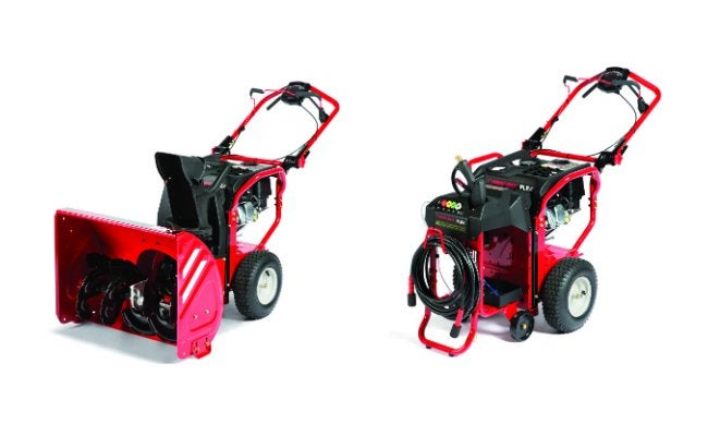 FLEX System Snow Thrower and Pressure Washer units