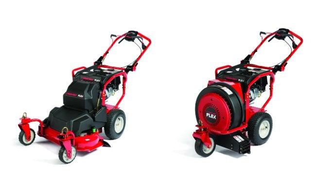 FLEX System Lawn Mower and Leaf Blower units