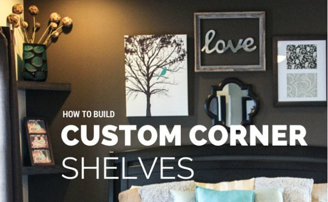 DIY Floating Shelves - Corner