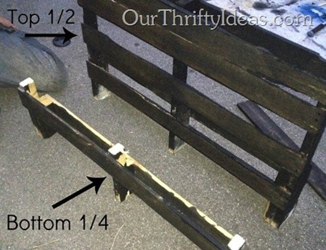 DIY Pallet Bench - Assembly