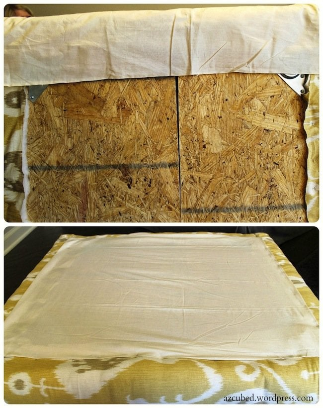 DIY Pallet Ottoman - Brackets