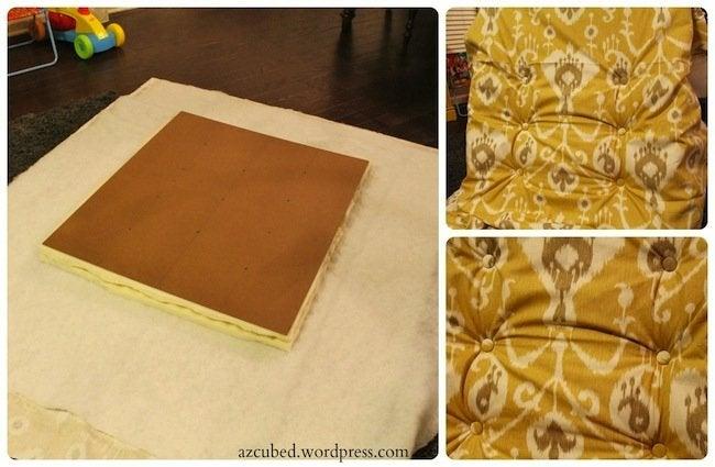 DIY Pallet Ottoman - Upholster