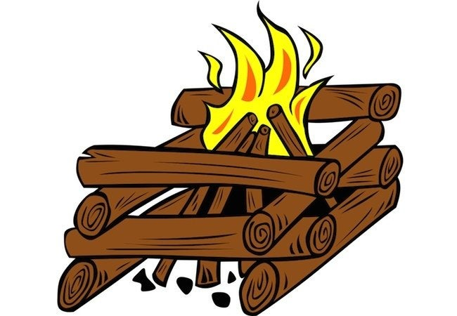 How to Start a Fire in the Fireplace - Log Cabin Method