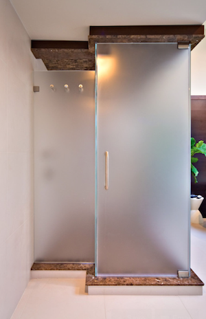 How to Frost Glass - Shower Doors