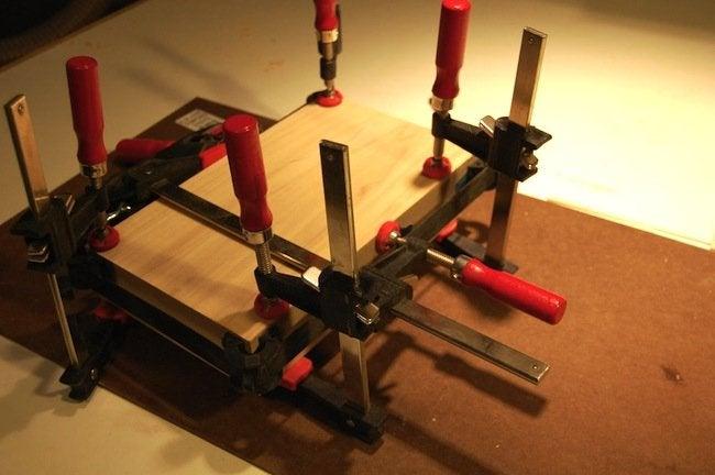 DIY Gramophone - glue up