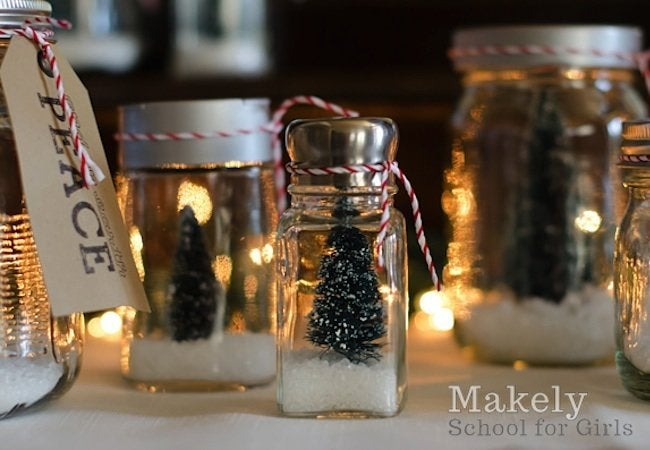 DIY Snow Globe - Salt Shaker