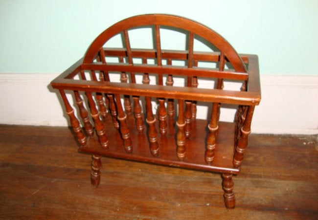 Stair Spindle Magazine Rack