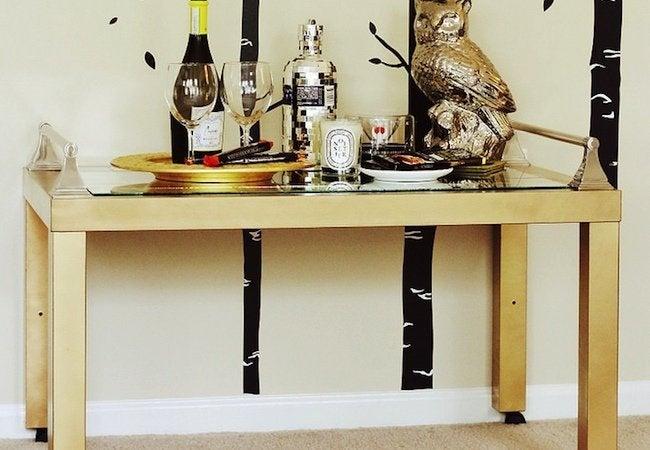 DIY Bar Cart - Table