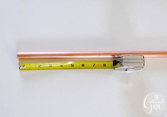 DIY Copper Light - Measure