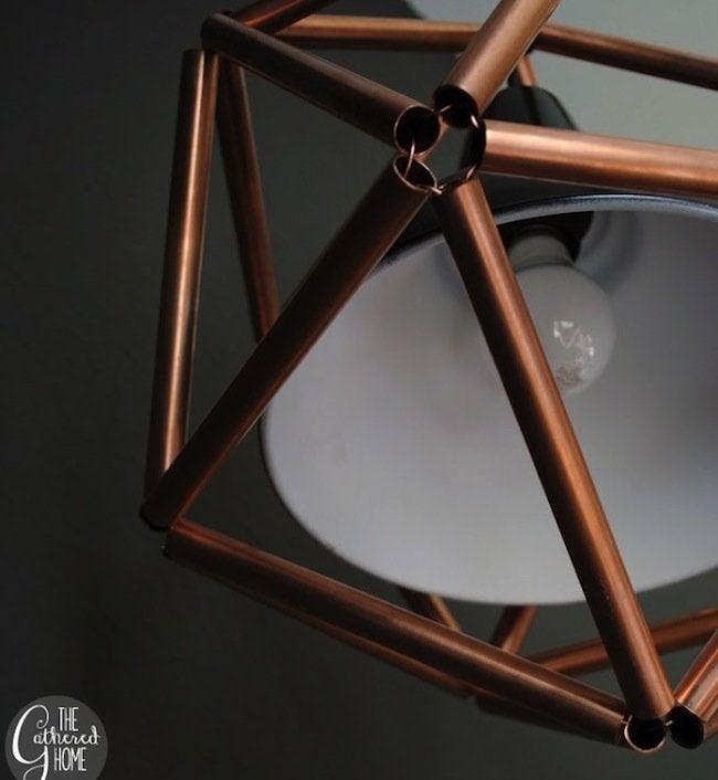 DIY Copper Pipe Icosahedron Light - wire